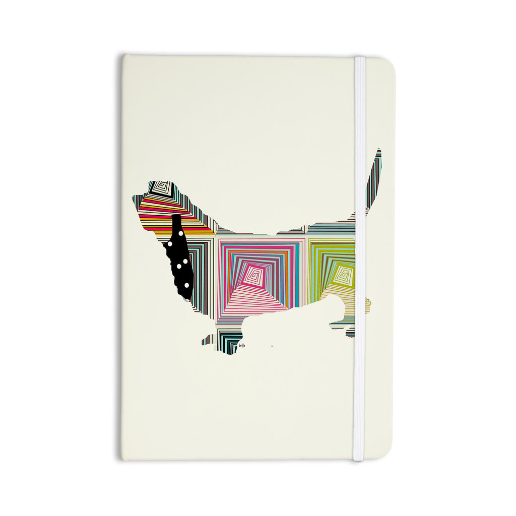 "Bri Buckley ""Basset"" White Rainbow Everything Notebook - KESS InHouse  - 1"