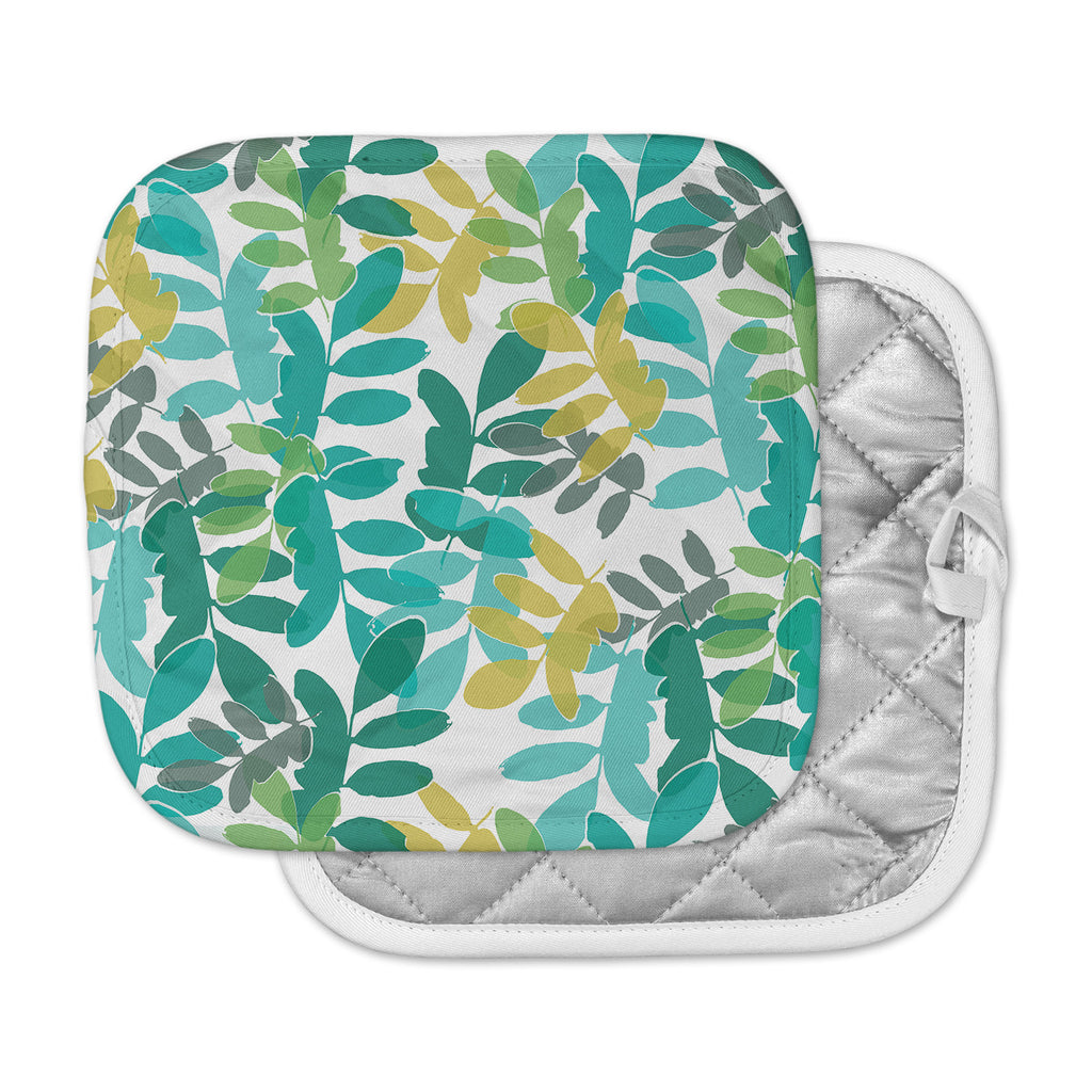 "Love Midge ""Charming"" Teal Nature Pot Holder"