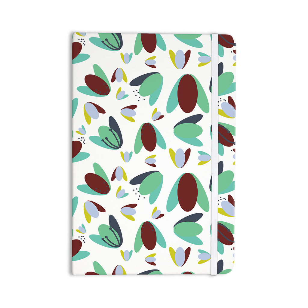 "Love Midge ""70s Floral Geometric"" Green Floral Everything Notebook - KESS InHouse  - 1"