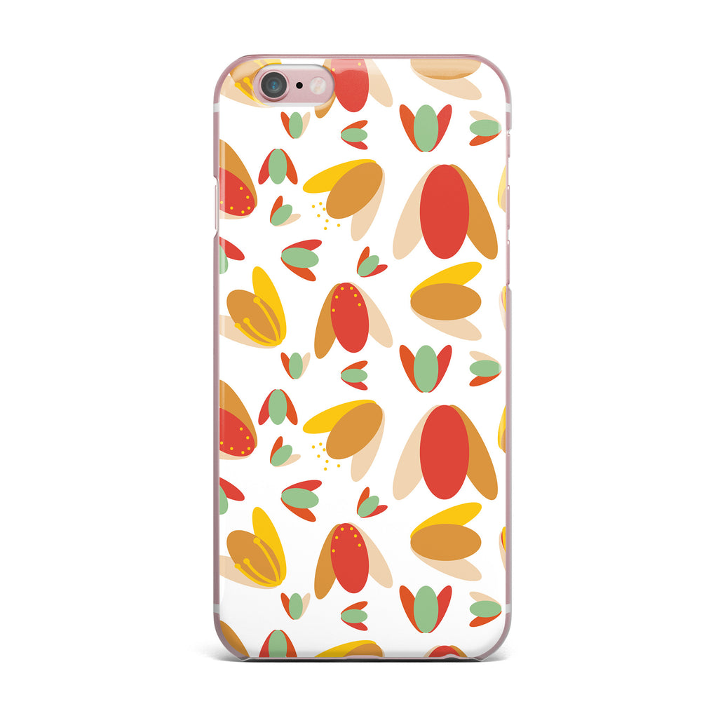 "Love Midge ""70's Retro Floral"" Orange Nature iPhone Case - KESS InHouse"