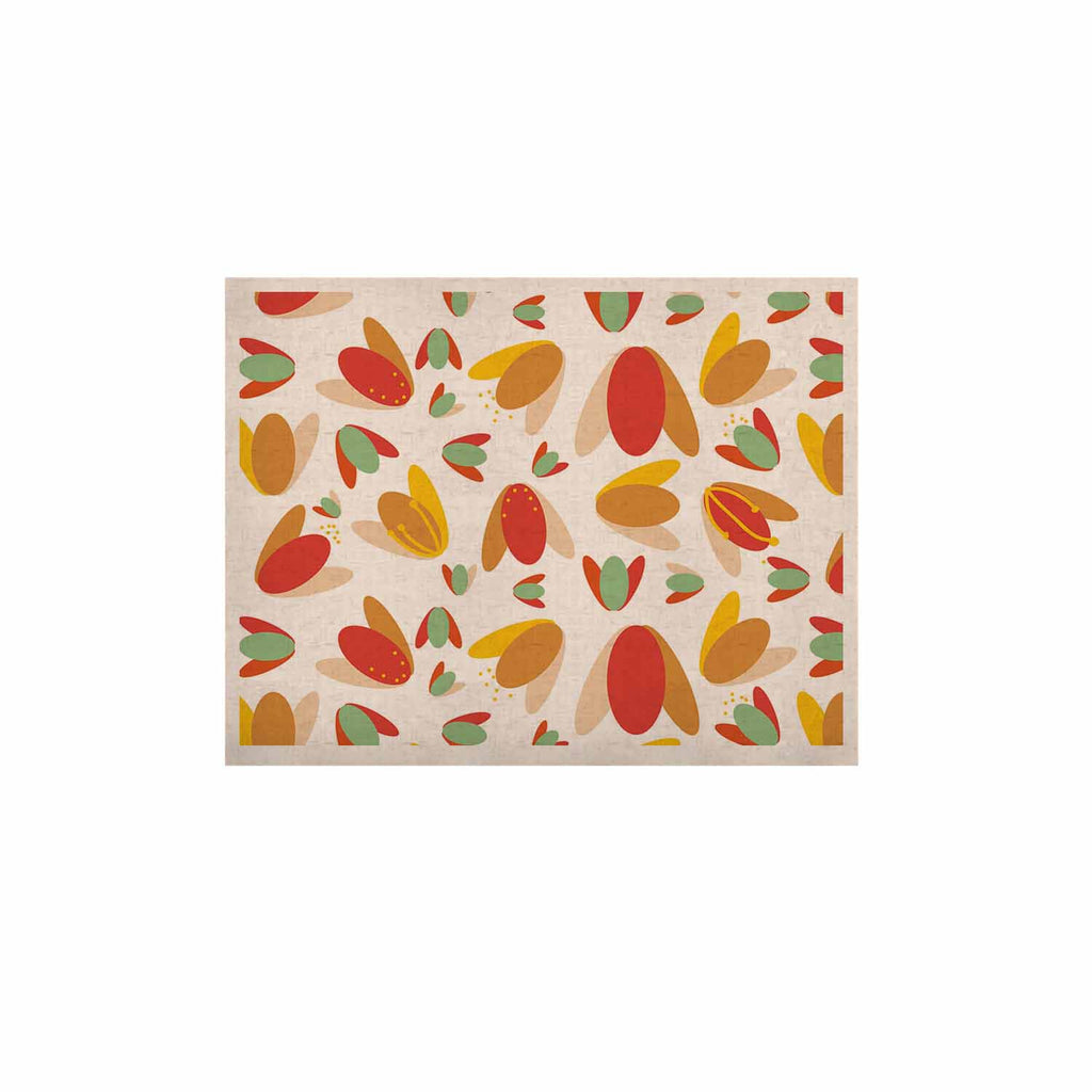 "Love Midge ""70's Retro Floral"" Orange Nature KESS Naturals Canvas (Frame not Included) - KESS InHouse  - 1"