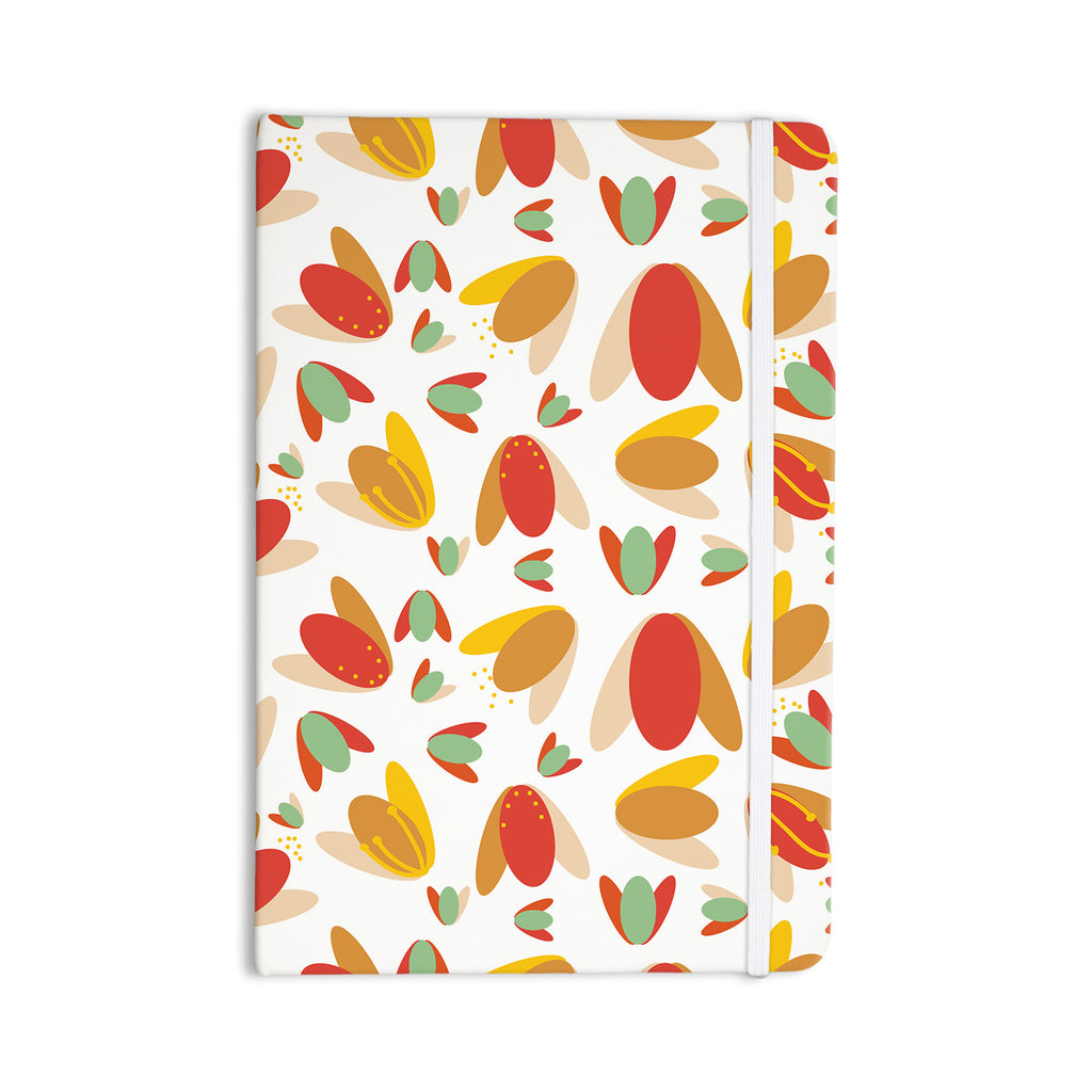 "Love Midge ""70's Retro Floral"" Orange Nature Everything Notebook - KESS InHouse  - 1"
