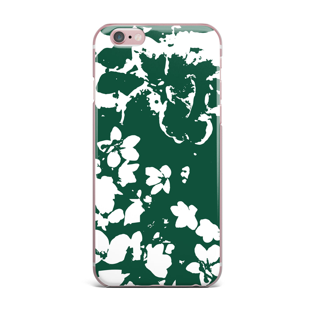 "Love Midge ""Helena Floral Green "" White Abstract iPhone Case - KESS InHouse"