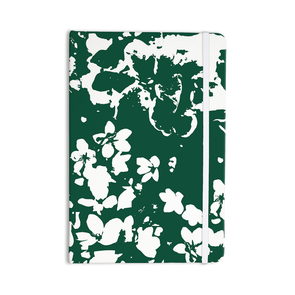 "Love Midge ""Helena Floral Green "" White Abstract Everything Notebook - KESS InHouse  - 1"