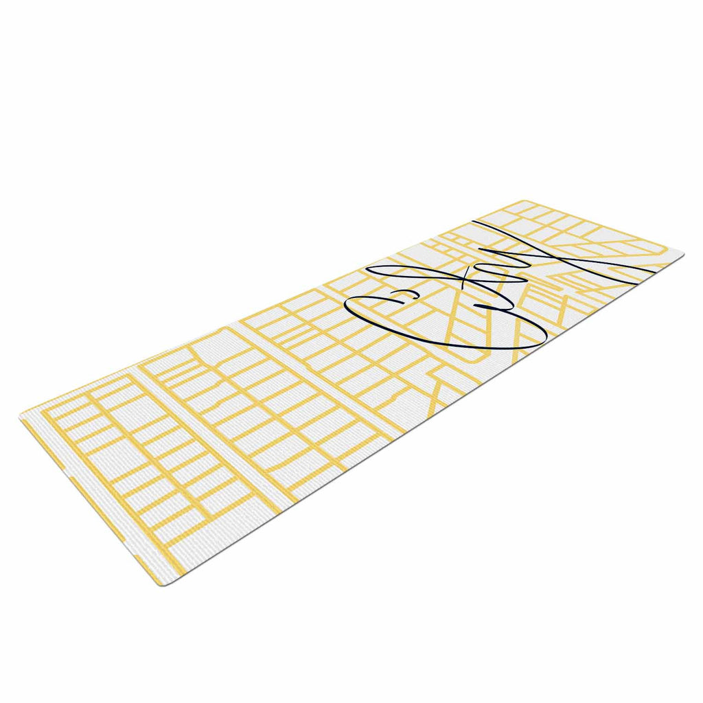 City Streets And Parcel Maps Yoga Mat by Midge | KESS InHouse on cricket map, psychology map, acupressure map, science map, spanish map, hindu map, vedic period map, buddhist cosmology map, feng shui map, nature map, nepal map, history map, chess map,