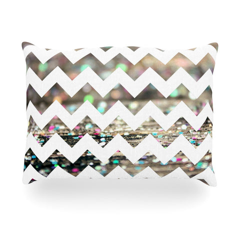 "Beth Engel ""After Party Chevron"" Oblong Pillow - KESS InHouse"