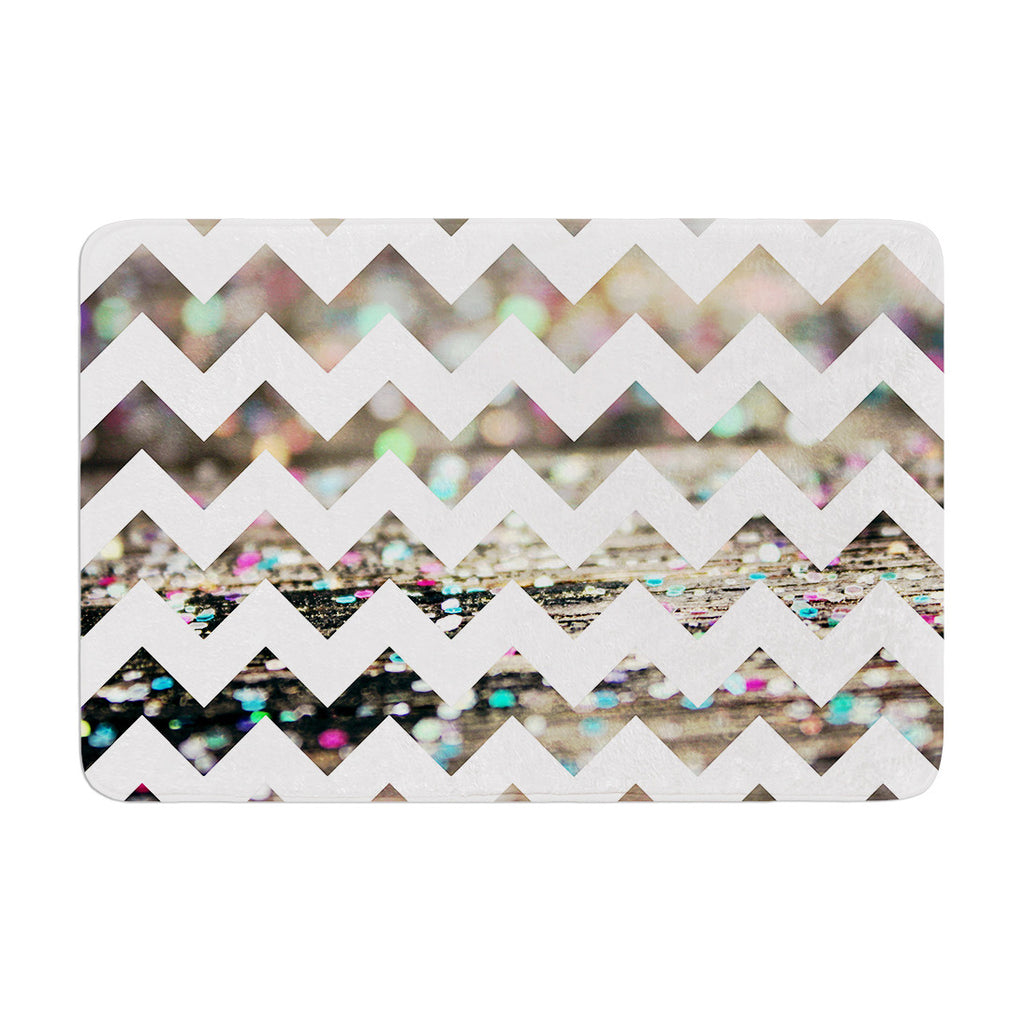 "Beth Engel ""After Party Chevron"" Memory Foam Bath Mat - KESS InHouse"