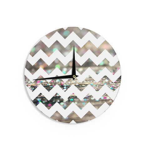 "Beth Engel ""After Party Chevron"" Wall Clock - KESS InHouse"