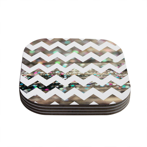 "Beth Engel ""After Party Chevron"" Coasters (Set of 4)"