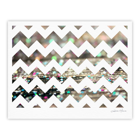 "Beth Engel ""After Party Chevron"" Fine Art Gallery Print - KESS InHouse"