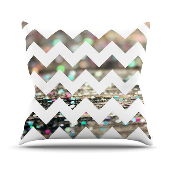 "Beth Engel ""After Party Chevron"" Outdoor Throw Pillow - KESS InHouse  - 1"