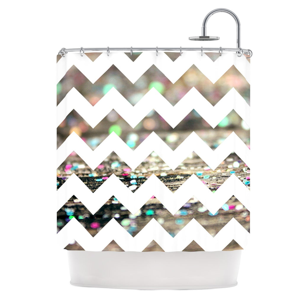 "Beth Engel ""After Party Chevron"" Shower Curtain - KESS InHouse"