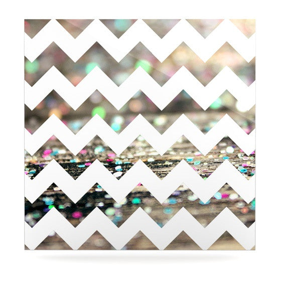 "Beth Engel ""After Party Chevron"" Luxe Square Panel - KESS InHouse  - 1"