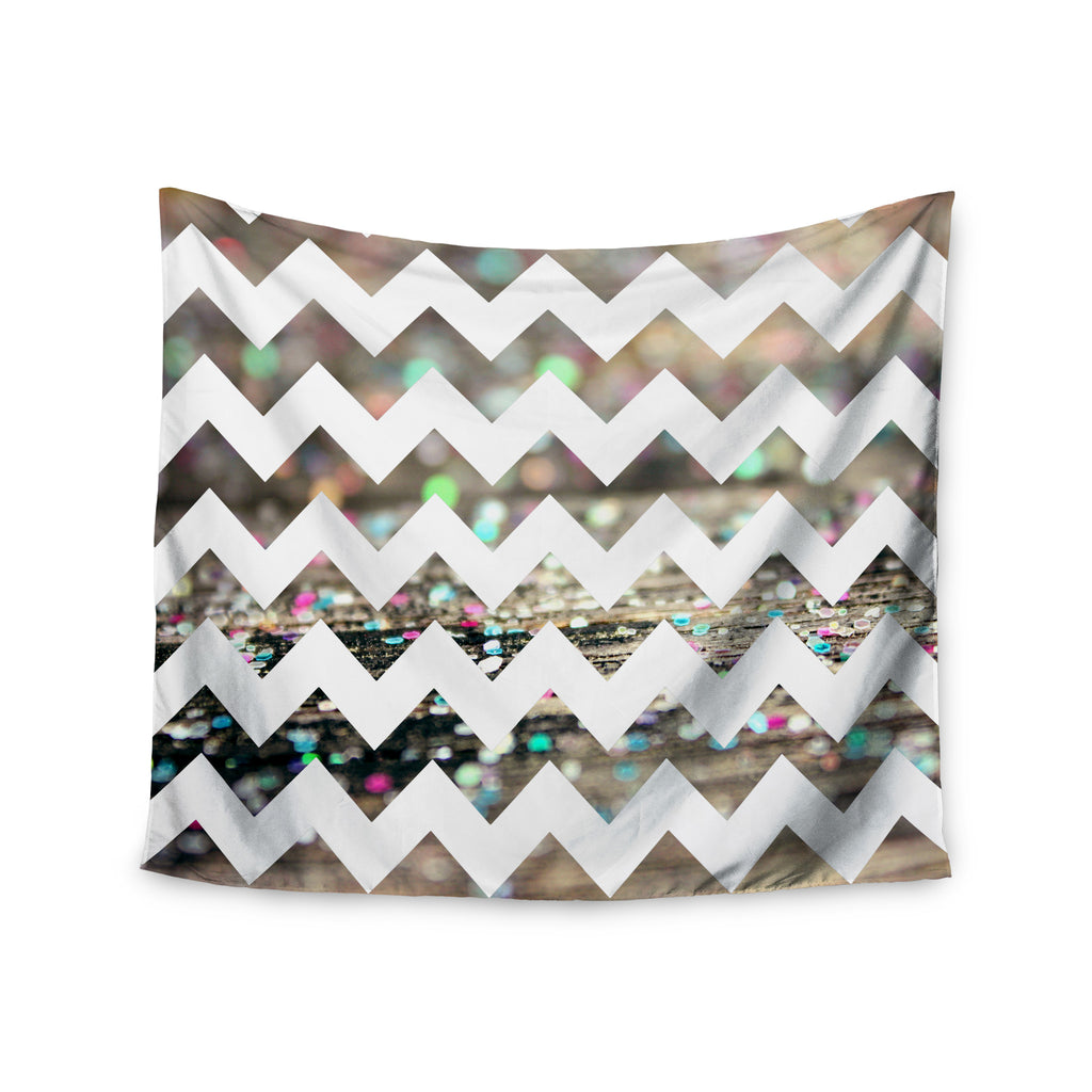 "Beth Engel ""After Party Chevron"" Wall Tapestry - KESS InHouse  - 1"