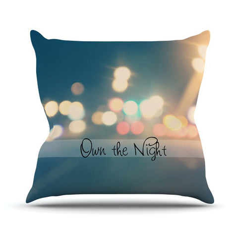 "Beth Engel ""Own The Night"" Outdoor Throw Pillow - KESS InHouse  - 1"