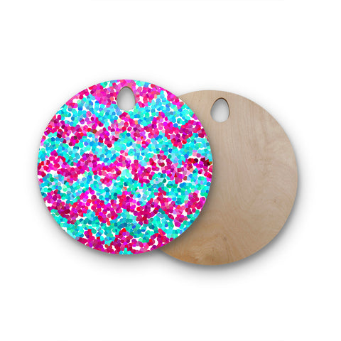 "Beth Engel ""Scattered"" Round Wooden Cutting Board"