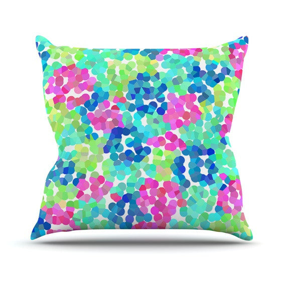 "Beth Engel ""Flower Garden"" Outdoor Throw Pillow - KESS InHouse  - 1"