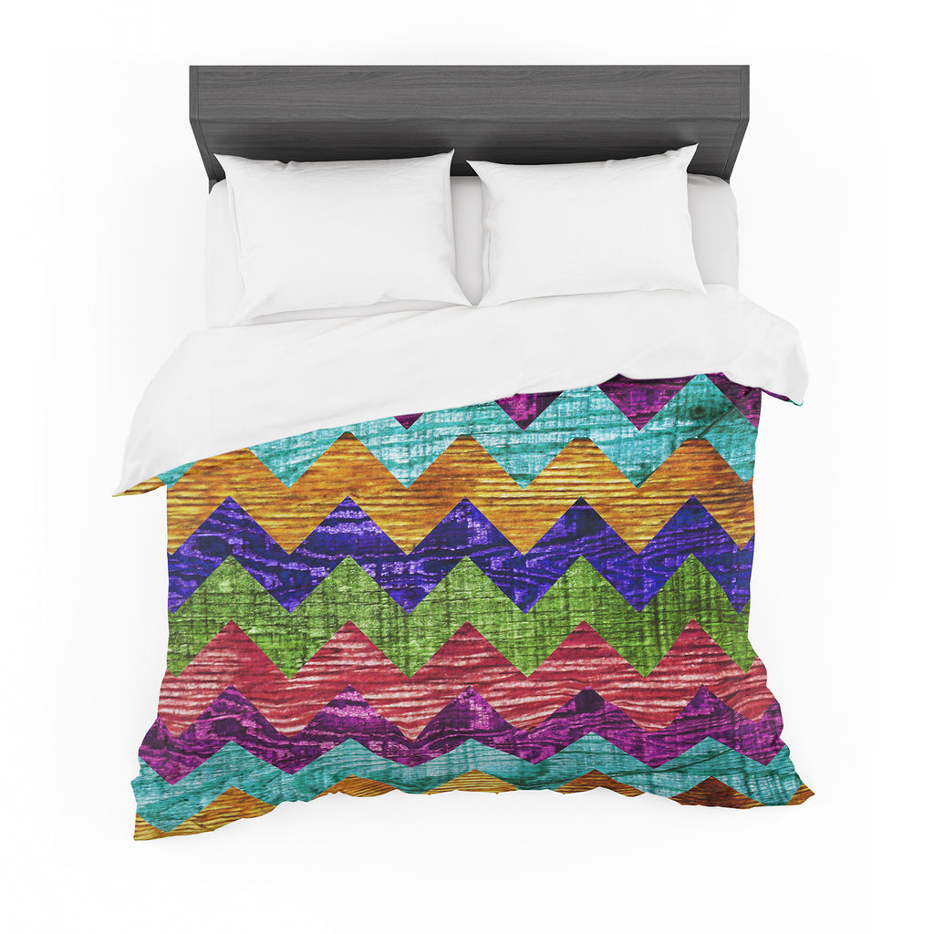 "Beth Engel ""Natural Flow"" Chevron Featherweight Duvet Cover"