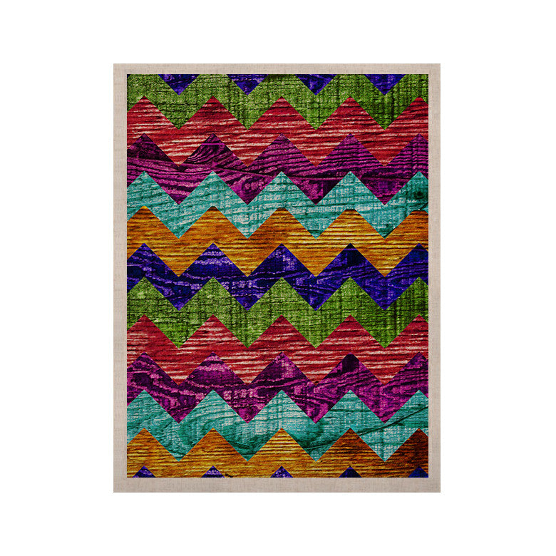 "Beth Engel ""Natural Flow"" Chevron KESS Naturals Canvas (Frame not Included) - KESS InHouse  - 1"