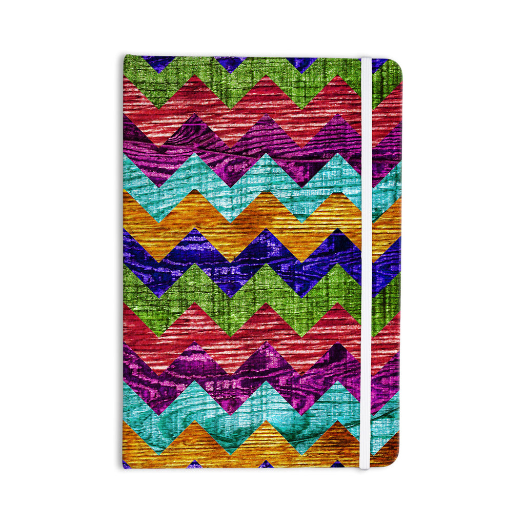 "Beth Engel ""Natural Flow"" Chevron Everything Notebook - KESS InHouse  - 1"
