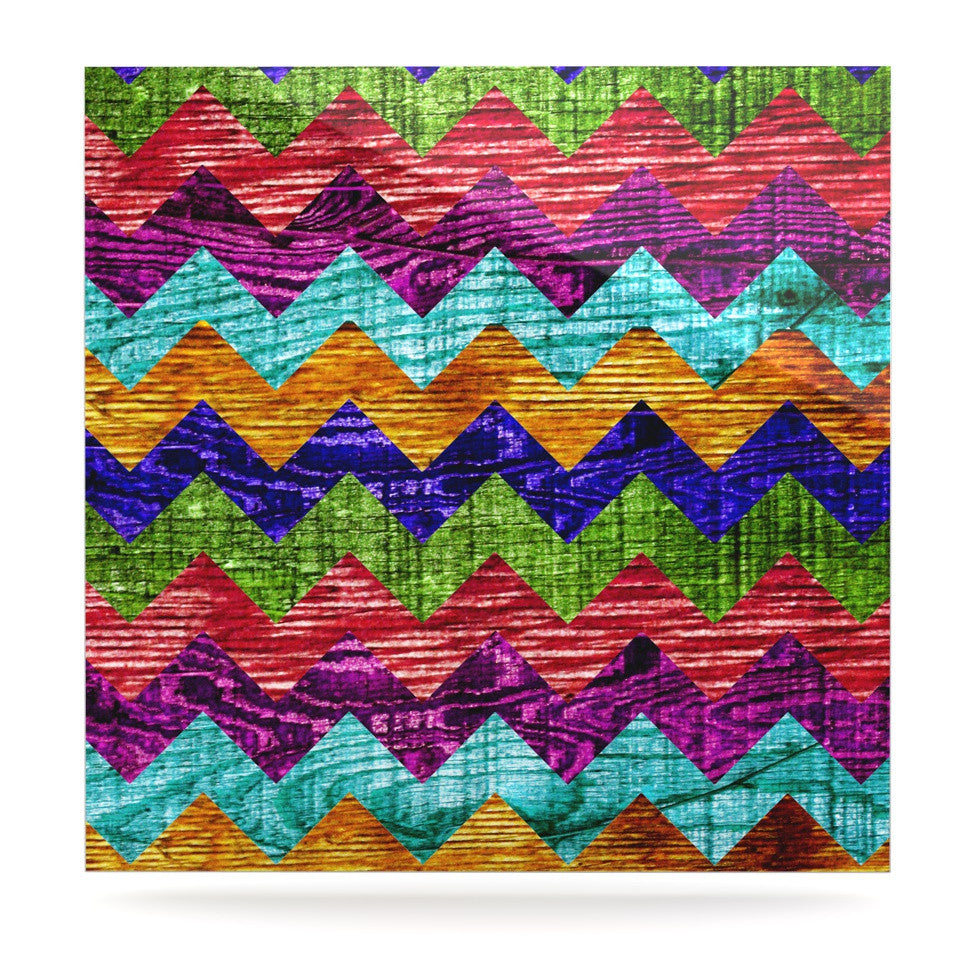 "Beth Engel ""Natural Flow"" Chevron Luxe Square Panel - KESS InHouse  - 1"