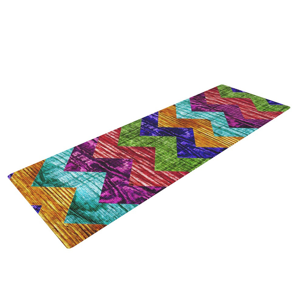 "Beth Engel ""Natural Flow"" Chevron Yoga Mat - KESS InHouse  - 1"