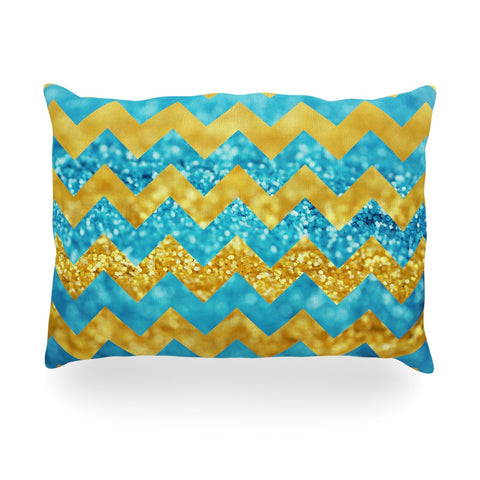 "Beth Engel ""Blueberry Twist"" Chevron Oblong Pillow - KESS InHouse"
