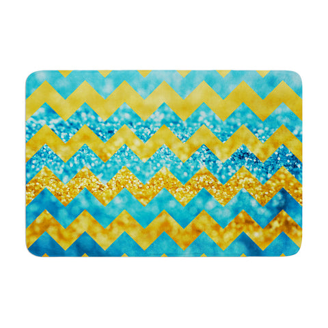 "Beth Engel ""Blueberry Twist"" Chevron Memory Foam Bath Mat - KESS InHouse"