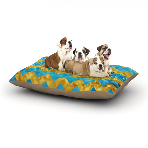 "Beth Engel ""Blueberry Twist"" Chevron Dog Bed - KESS InHouse  - 1"