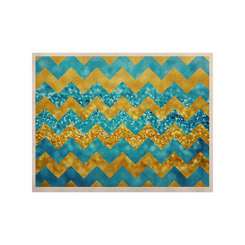 "Beth Engel ""Blueberry Twist"" Chevron KESS Naturals Canvas (Frame not Included) - KESS InHouse  - 1"