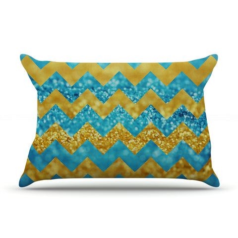 "Beth Engel ""Blueberry Twist"" Chevron Pillow Sham - KESS InHouse"