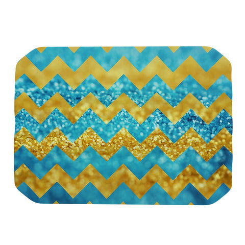 "Beth Engel ""Blueberry Twist"" Chevron Place Mat - KESS InHouse"