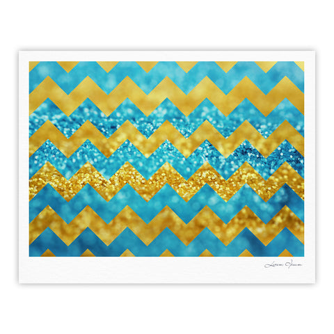 "Beth Engel ""Blueberry Twist"" Chevron Fine Art Gallery Print - KESS InHouse"