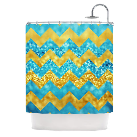 "Beth Engel ""Blueberry Twist"" Chevron Shower Curtain - KESS InHouse"