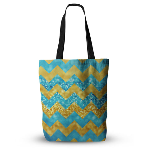 "Beth Engel ""Blueberry Twist"" Chevron Everything Tote Bag - Outlet Item"