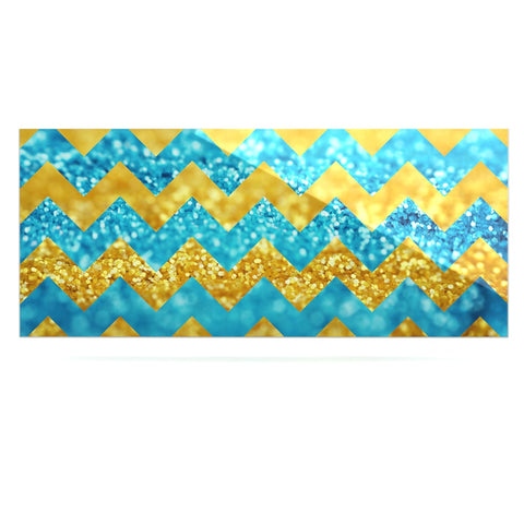 "Beth Engel ""Blueberry Twist"" Chevron Luxe Rectangle Panel - KESS InHouse  - 1"