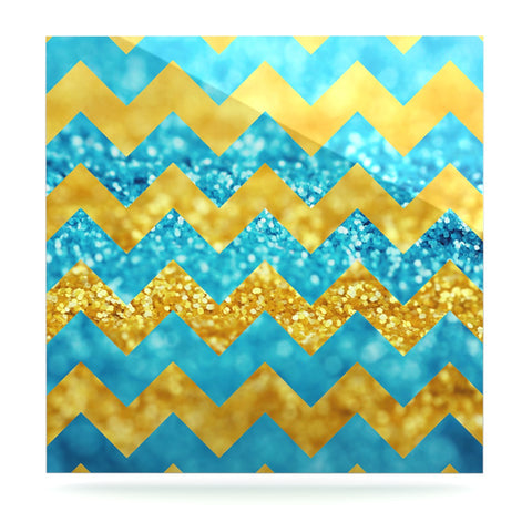 "Beth Engel ""Blueberry Twist"" Chevron Luxe Square Panel - KESS InHouse  - 1"