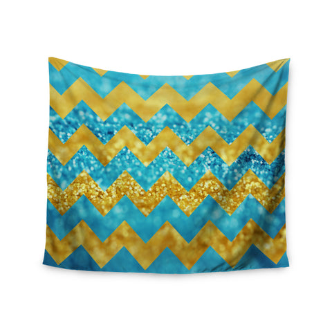 "Beth Engel ""Blueberry Twist"" Chevron Wall Tapestry - KESS InHouse  - 1"