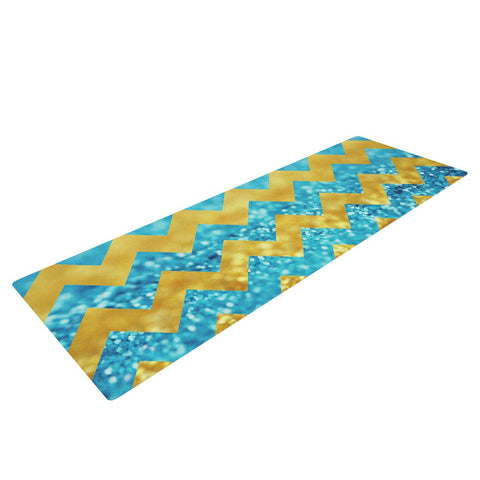 "Beth Engel ""Blueberry Twist"" Chevron Yoga Mat - KESS InHouse  - 1"