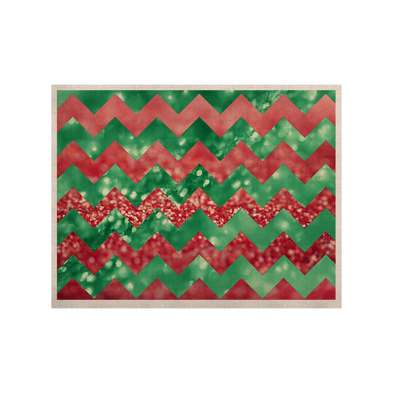 "Beth Engel ""Sparkle"" Chevron KESS Naturals Canvas (Frame not Included) - KESS InHouse  - 1"