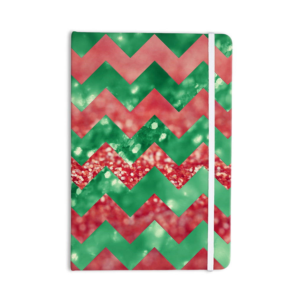 "Beth Engel ""Sparkle"" Chevron Everything Notebook - KESS InHouse  - 1"