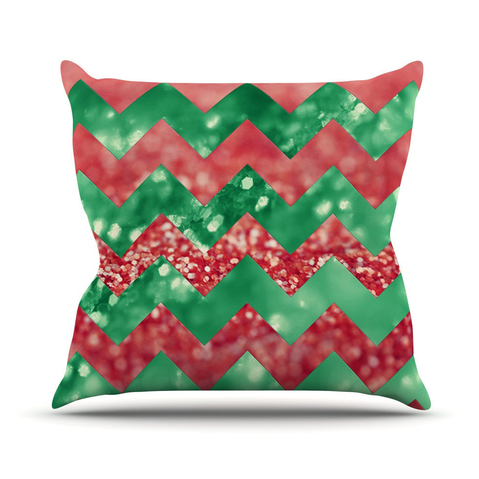 "Beth Engel ""Sparkle"" Chevron Outdoor Throw Pillow - KESS InHouse  - 1"