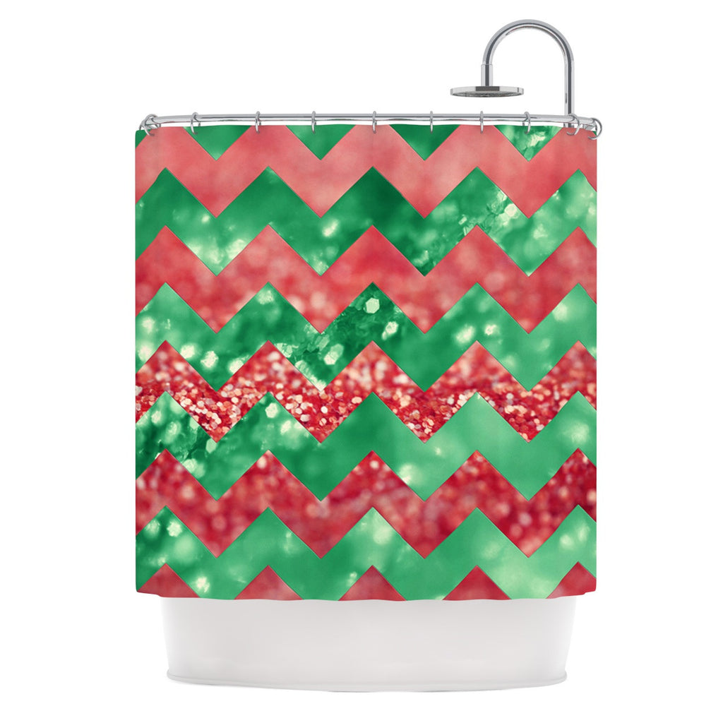 "Beth Engel ""Sparkle"" Chevron Shower Curtain - KESS InHouse"