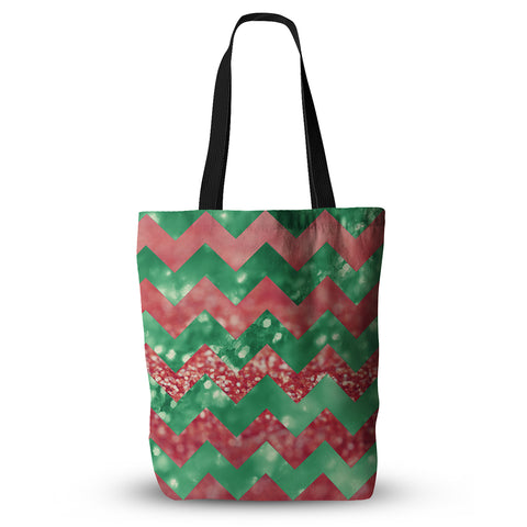 "Beth Engel ""Sparkle"" Chevron Everything Tote Bag - Outlet Item"