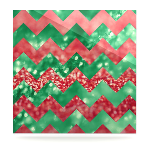 "Beth Engel ""Sparkle"" Chevron Luxe Square Panel - KESS InHouse  - 1"