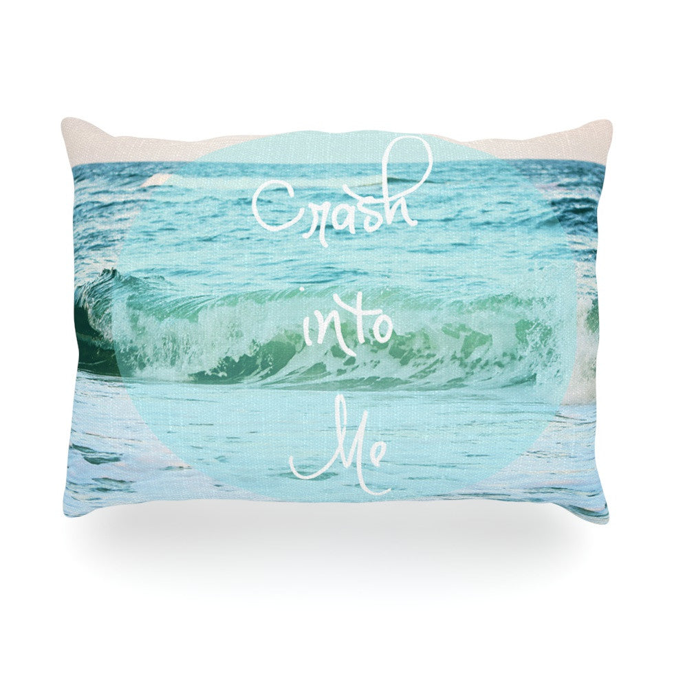 "Beth Engel ""Crash Into Me"" Oblong Pillow - KESS InHouse"