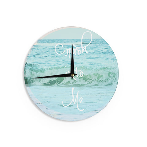 "Beth Engel ""Crash Into Me"" Wall Clock - KESS InHouse"