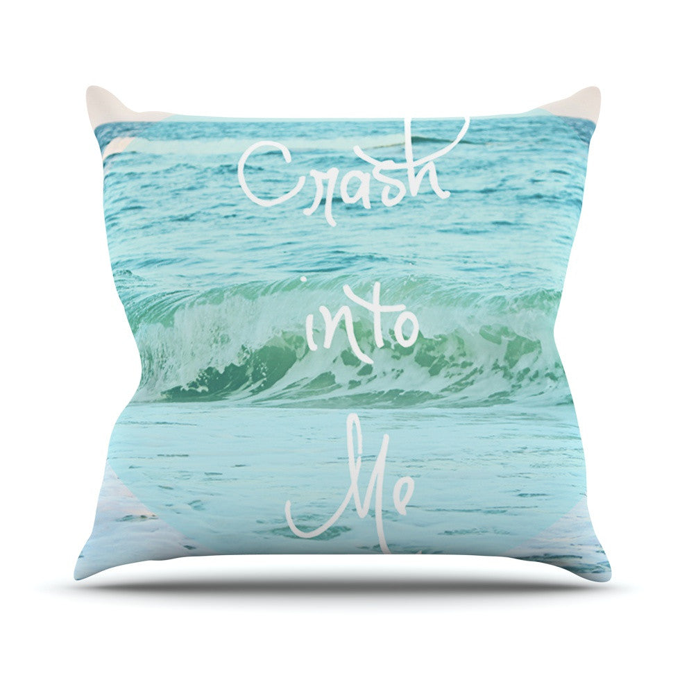 "Beth Engel ""Crash Into Me"" Throw Pillow - KESS InHouse  - 1"