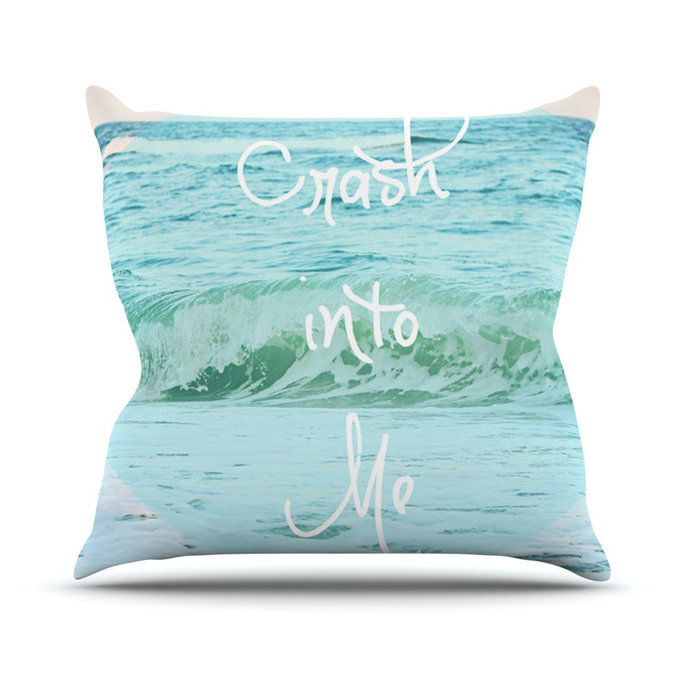 "Beth Engel ""Crash Into Me"" Outdoor Throw Pillow - KESS InHouse  - 1"
