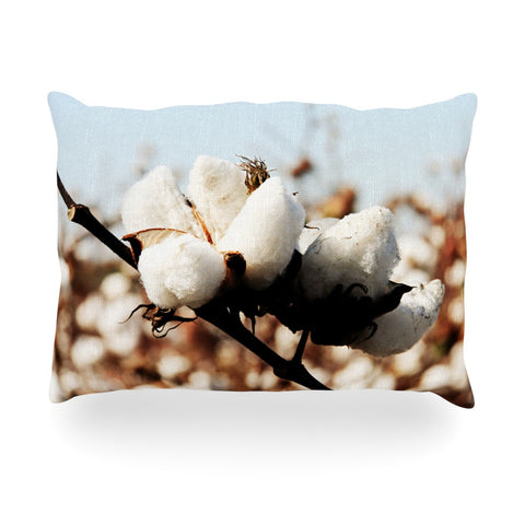 "Beth Engel ""Southern Snow"" Cotton Oblong Pillow - KESS InHouse"